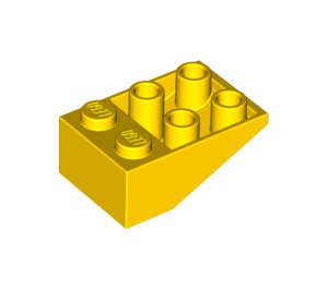 LEGO Yellow Slope 2 x 3 (25°) Inverted without Connections between Studs (3747)