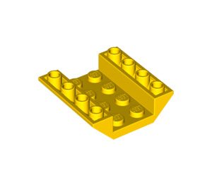 LEGO Yellow Slope 4 x 4 (45°) Double Inverted with Open Center (No Holes) (4854)