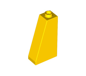 LEGO Yellow Slope 75 2 x 1 x 3 with Completely Open Stud (4460)
