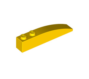 LEGO Yellow Slope Curved 6 x 1 (42022)
