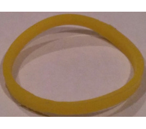 LEGO Yellow Square Cut Rubber Band 20 mm