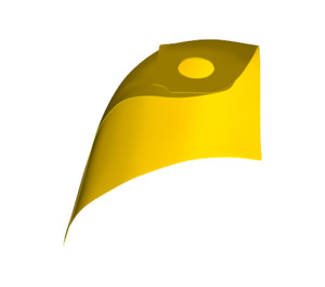 LEGO Yellow Standard Cape with Regular Starched Texture (50231)