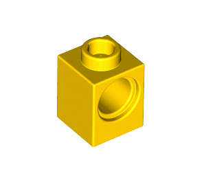 LEGO Yellow Technic Brick 1 x 1 with Hole (6541)