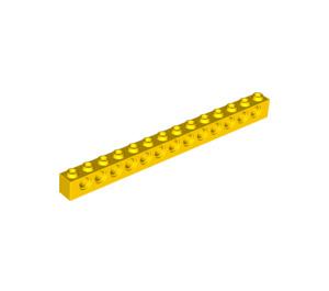 LEGO Yellow Technic Brick 1 x 14 with Holes (32018)