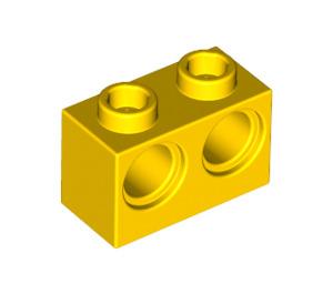 LEGO Yellow Technic Brick 1 x 2 with 2 Holes (32000)