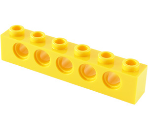 LEGO Yellow Technic Brick 1 x 6 with Holes (3894)