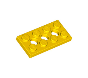 LEGO Yellow Technic Plate 2 x 4 with Holes (3709)