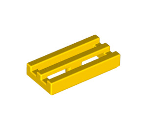 LEGO Yellow Tile 1 x 2 Grille (with Bottom Groove) (2412)