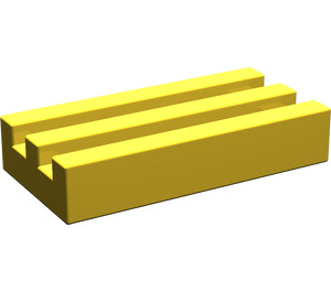 LEGO Yellow Tile 1 x 2 Grille (without Bottom Groove) (2412)