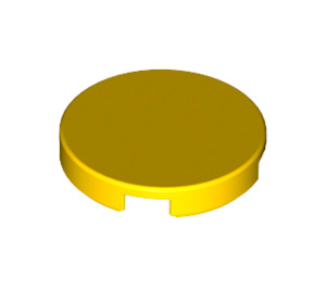 LEGO Yellow Tile 2 x 2 Round with Bottom Stud Holder (14769)