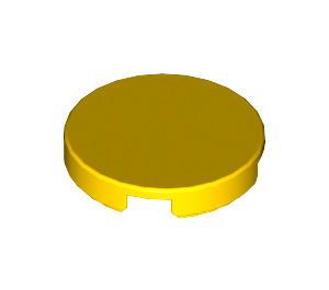 "LEGO Yellow Tile 2 x 2 Round with ""X"" Bottom (4150)"
