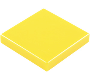 LEGO Yellow Tile 2 x 2 with Groove (3068)
