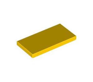 LEGO Yellow Tile 2 x 4 (87079)