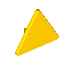 LEGO Yellow Triangular Sign with Clip (30259)