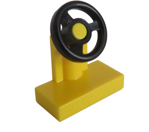LEGO Yellow Vehicle Console with Black Steering Wheel (73081)