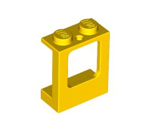 LEGO Yellow Window 1 x 2 x 2 with 2 Holes in Bottom (2377)