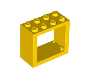 LEGO Yellow Window 2 x 4 x 3 with Rounded Holes (4132)