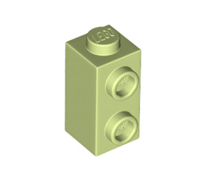LEGO Yellowish Green Brick 1 x 1 x 1.3 with Two Side Studs (32952)