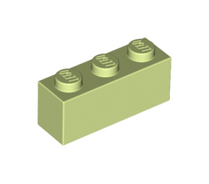 LEGO Yellowish Green Brick 1 x 3 (3622)