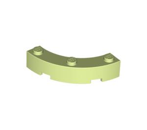 LEGO Yellowish Green Brick Corner 4 x 4 (Wide with 3 Studs) (48092)