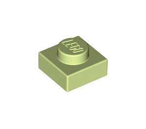 LEGO Yellowish Green Plate 1 x 1 (3024)