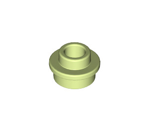 LEGO Yellowish Green Plate 1 x 1 Round with Open Stud (28626)