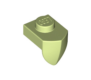 LEGO Yellowish Green Plate 1 x 1 with Tooth (15070)