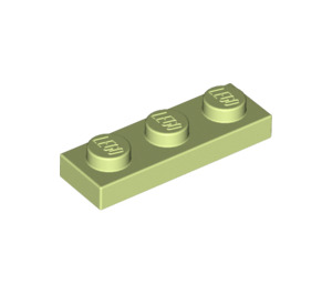 LEGO Yellowish Green Plate 1 x 3 (3623)