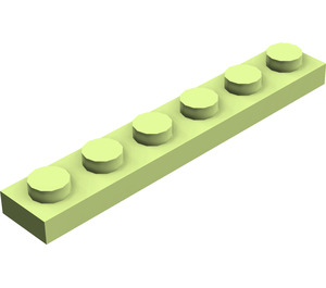 LEGO Yellowish Green Plate 1 x 6 (3666)