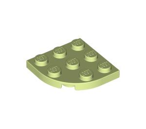 LEGO Yellowish Green Plate 3 x 3 Corner Round (30357)