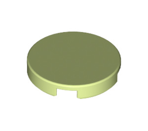 LEGO Yellowish Green Round Tile 2 x 2 with Bottom Stud Holder (14769)
