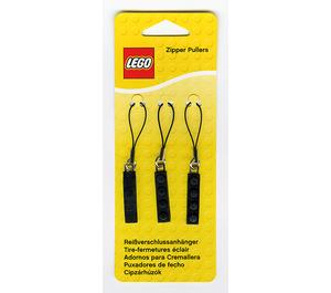 LEGO Zipper Pullers (Black) (850414)