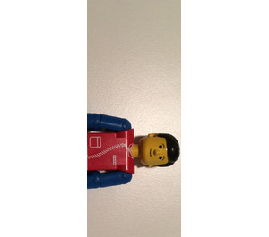 LEGO Zippered Jacket, Blue Legs and Arms, and Black Hair Technic Figure