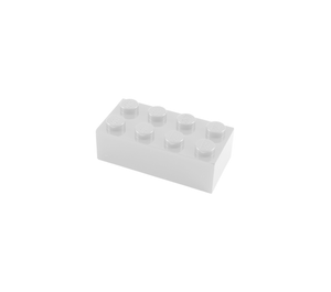 LEGO Glow in the Dark White Axle 2 with Grooves