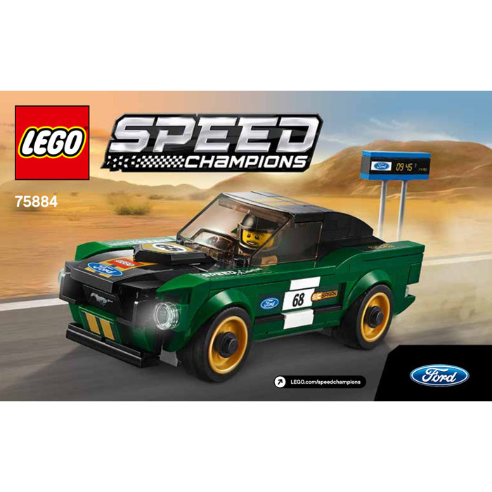 LEGO 1968 Ford Mustang Fastback Set 75884 Instructions