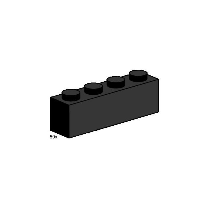 Lego 3472 1 x 4 1x4 Red Brick New 50 Bulk Pack