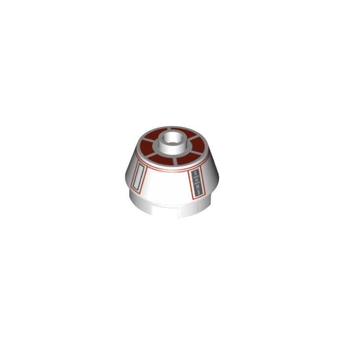 LEGO® Light Gray Cone 2 x 2 Truncated Design ID 98100