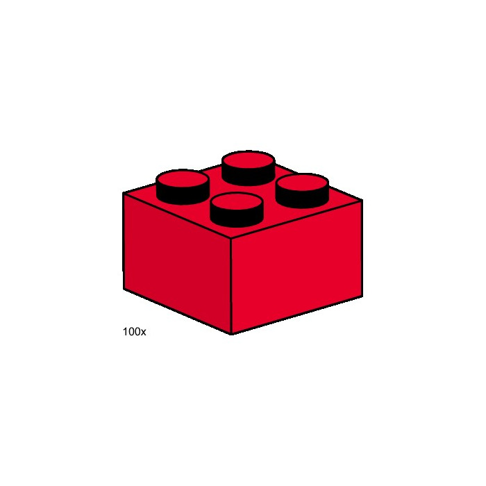 LEGO 2x2 Red Bricks Set 3457 Inventory | Brick Owl - LEGO ...