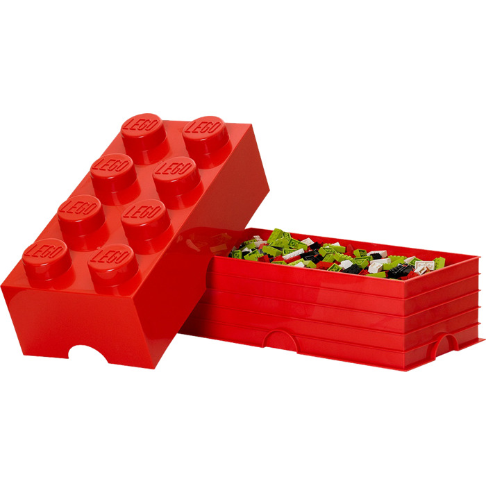 lego 8 stud red storage brick 5000463 brick owl lego. Black Bedroom Furniture Sets. Home Design Ideas
