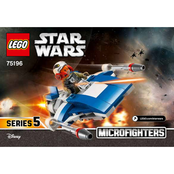 Lego A Wing Vs Tie Silencer Microfighters Set 75196 Instructions