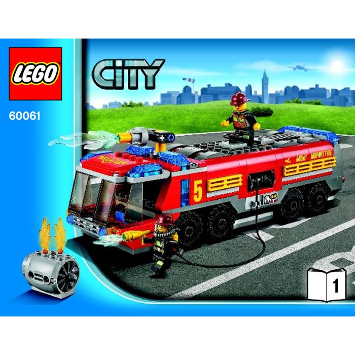 Lego Airport Fire Truck Set 60061 Instructions Brick Owl Lego