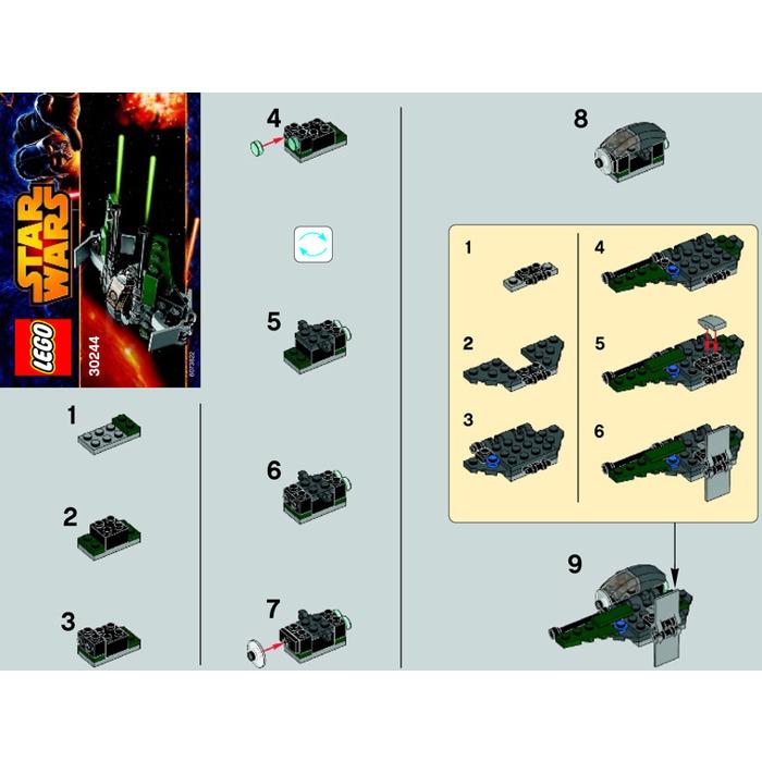 LEGO Anakin's Jedi Interceptor Set 30244 Instructions