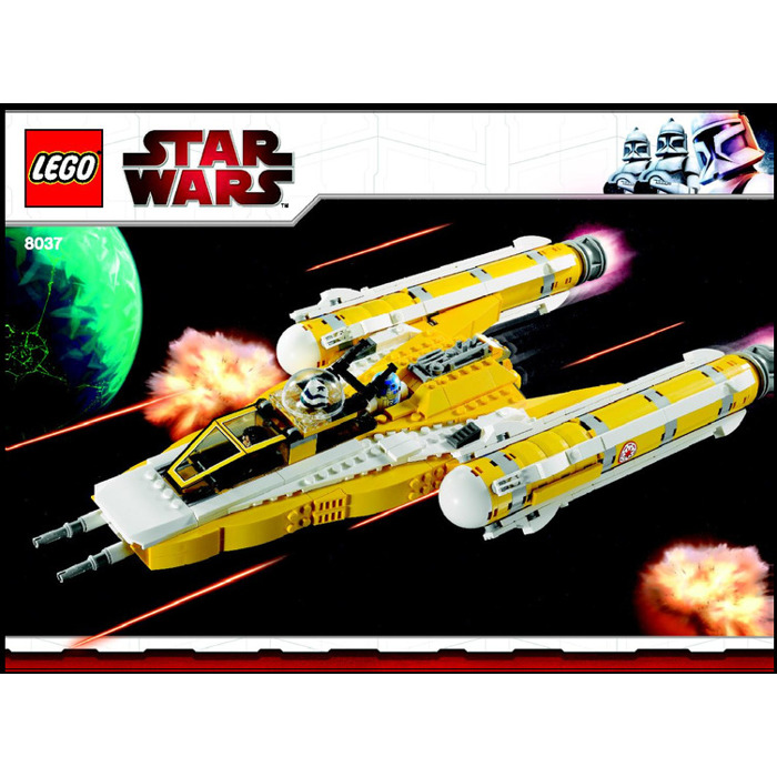 Buy Lego Star Wars Y Wing Starfighter: LEGO Anakin's Y-wing Starfighter Set 8037 Instructions