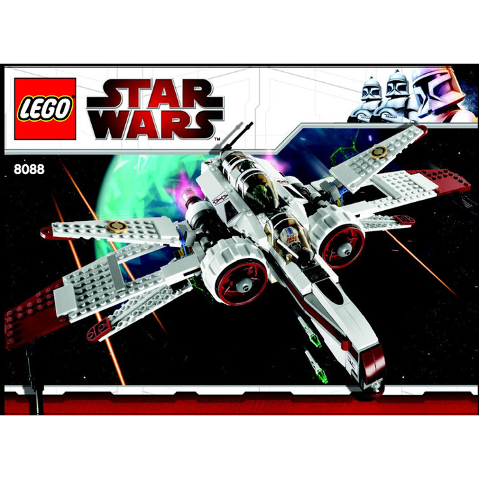 lego arc 170 starfighter set 8088 instructions brick owl lego marketplace. Black Bedroom Furniture Sets. Home Design Ideas