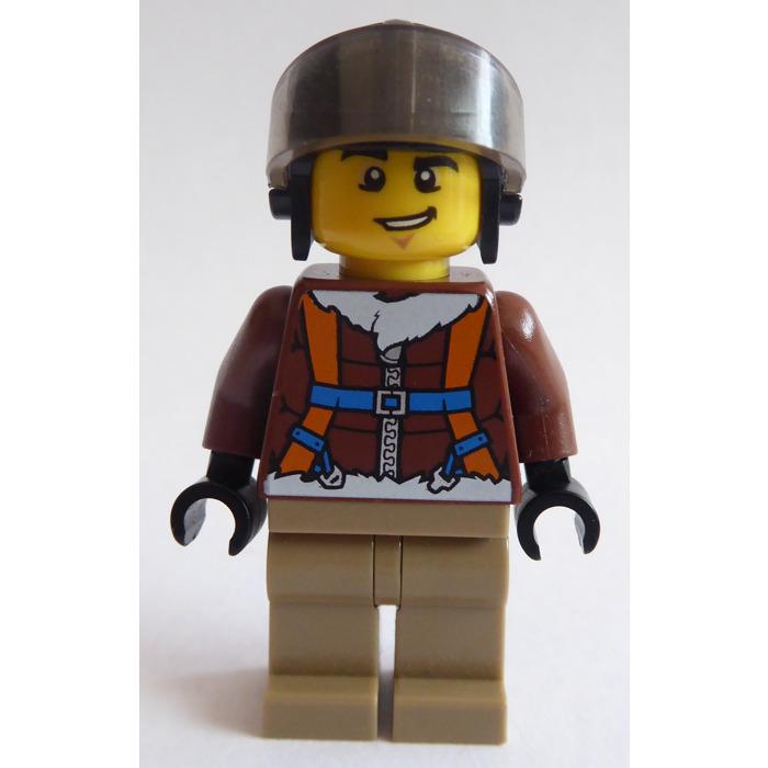 LEGO ONE PILOT HELMET AVIATOR HAT Black W// Grey Goggles minifigs accessories