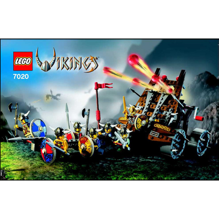 Lego Army Of Vikings With Heavy Artillery Wagon Set 7020