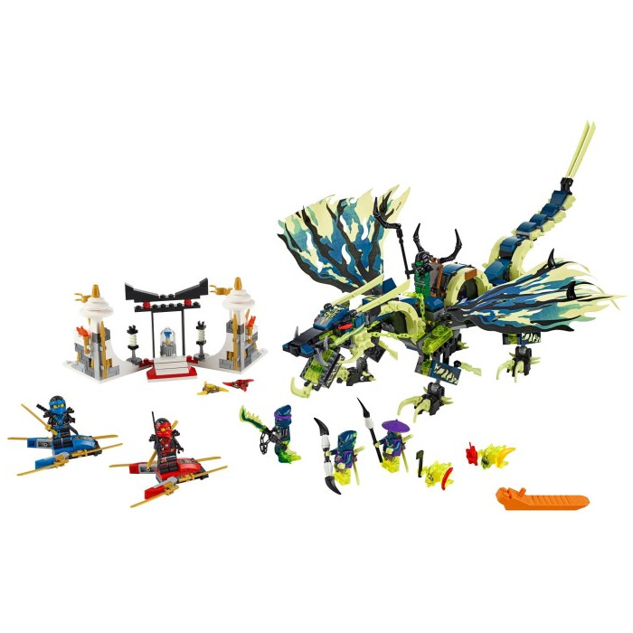 Lego attack of the morro dragon set 70736 brick owl - Lego ninjago dragon a 4 tetes ...