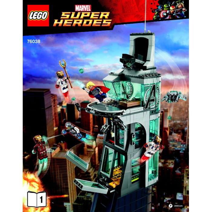 how to build lego avengers tower