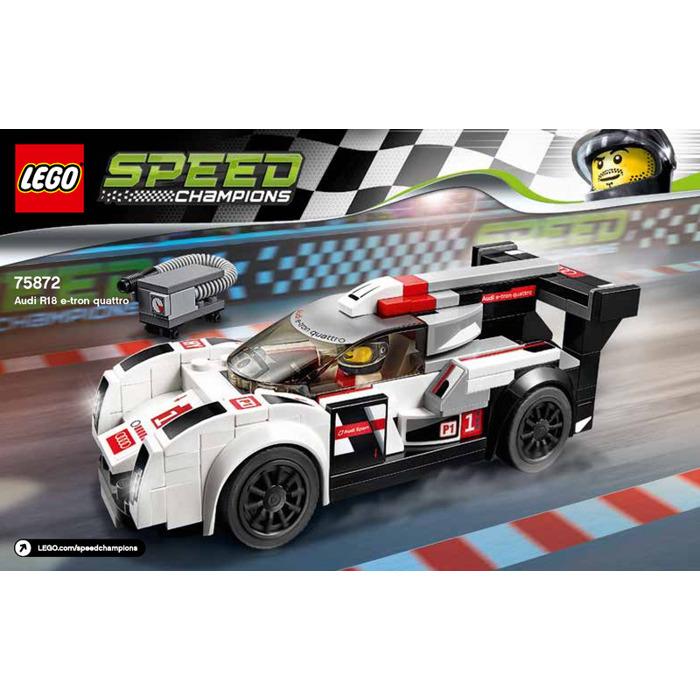 Lego Audi R18 E Tron Quattro Set 75872 Instructions