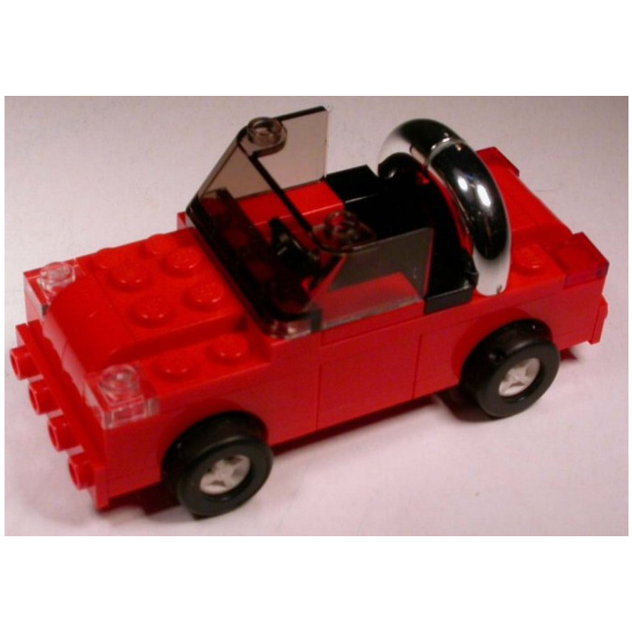 LEGO Red Vehicle Console With Black Steering Wheel (73081